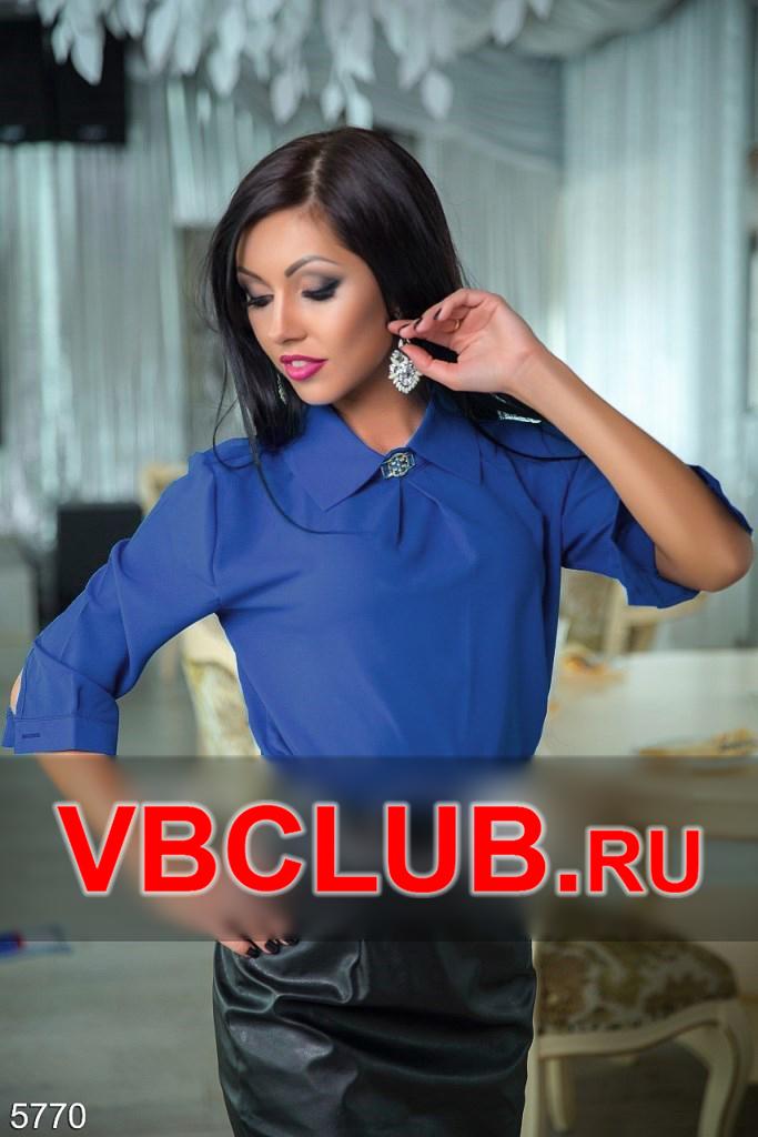 Деловая женская блузка цвета электрик FN-5770