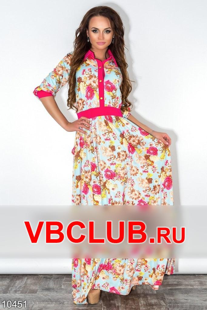 Замшевое платье с цветочным принтом FN-10451