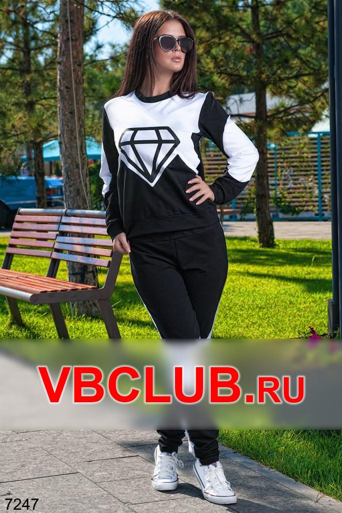Черно-белый костюм с рисунком кристала FN-7247