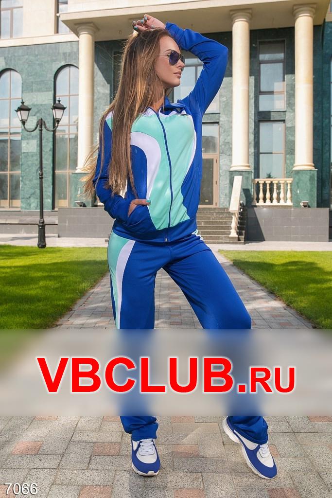 Синий спортивный костюм с цветными вставками FN-7066