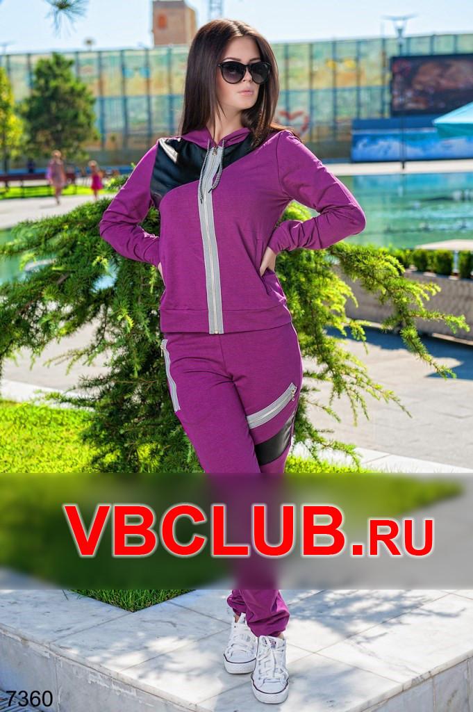 Спортивный костюм с кожаной вставкой FN-7360
