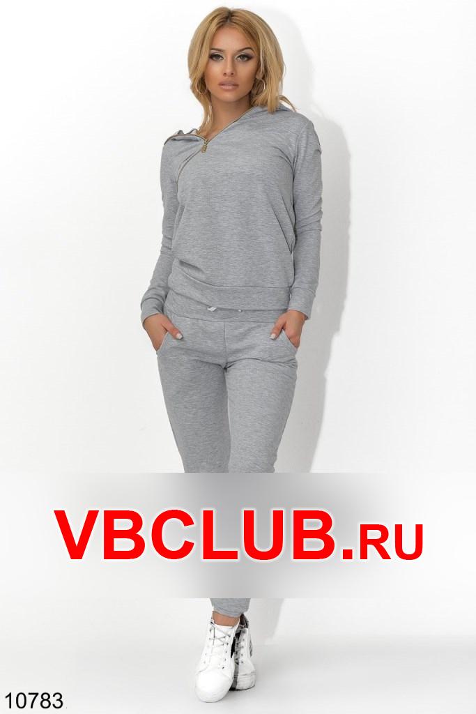 Спортивный костюм с молнией на кофте FN-10783
