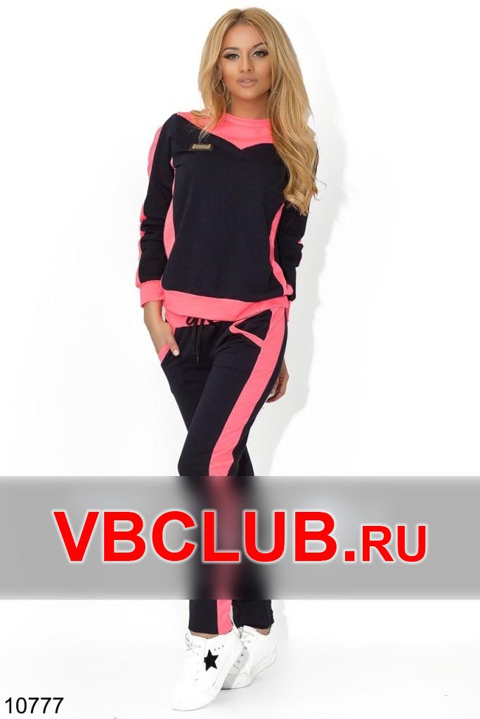 Спортивный костюм с розовой вставкой FN-10777