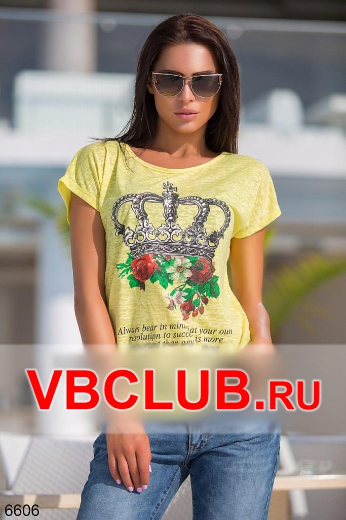 Желтая футболка с рисунком короны FN-6606