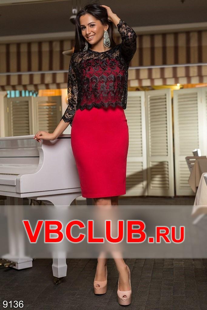 Комплект платье и топ из гипюра FN-9136