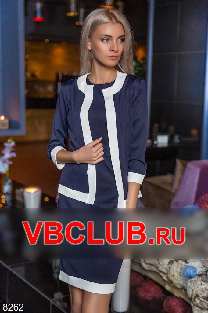 Костюм платье и пиджак с вставками FN-8262