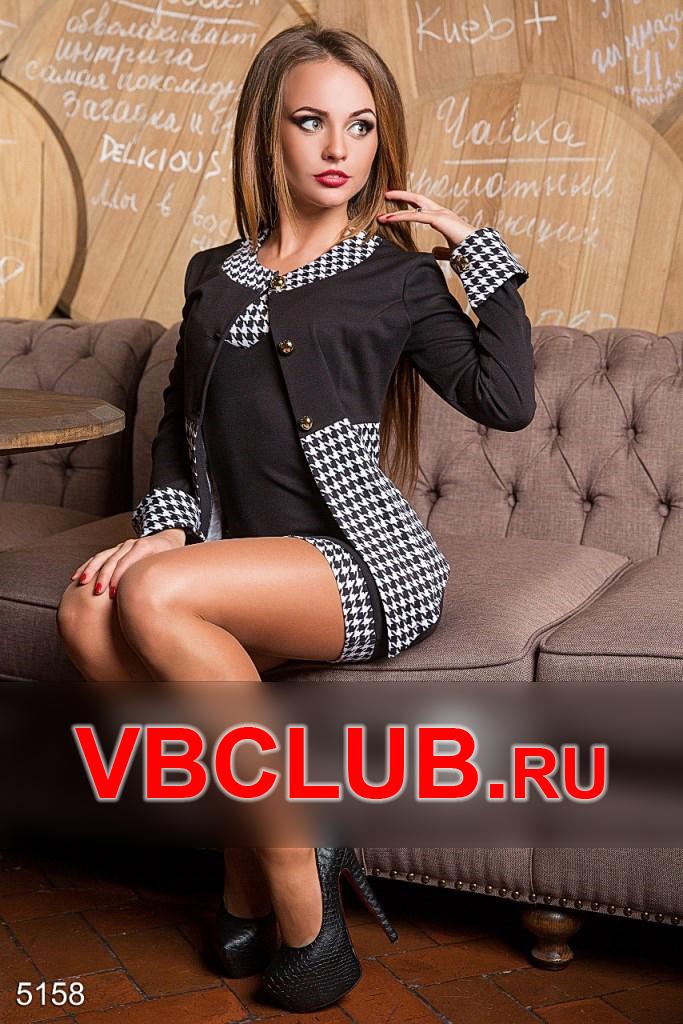 Костюм пиджак и платье FN-5158