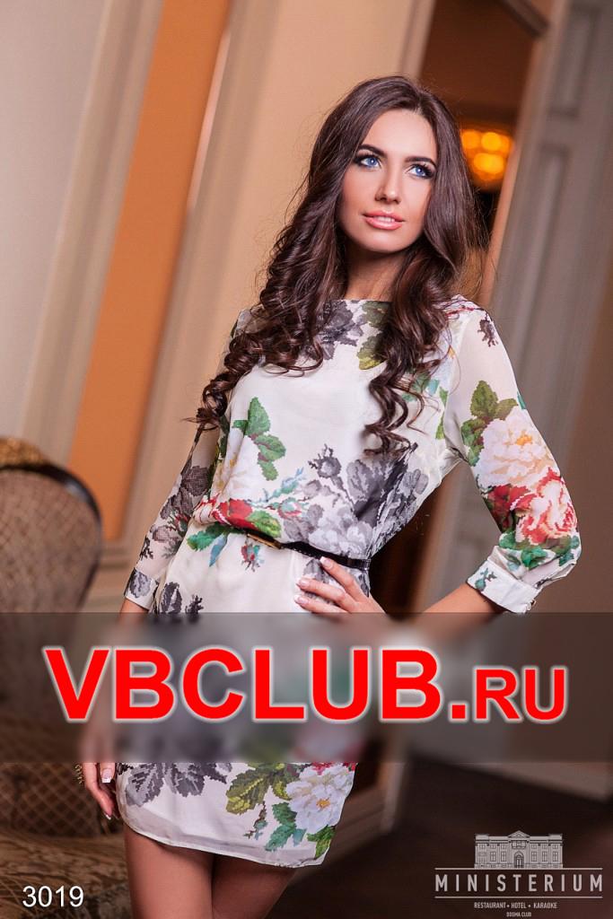 Шифоновое платье с принтом цветов FN-3019