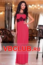 Красное вечернее платье в пол FN-3282