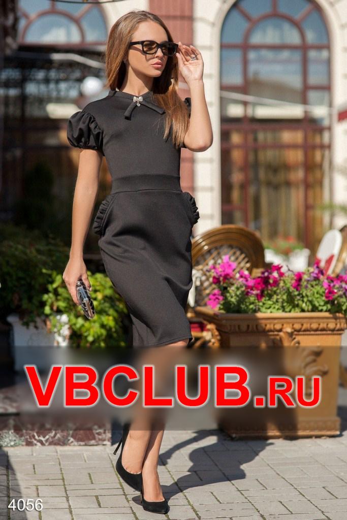 Женское летнее платье миди с камушком FN-4056