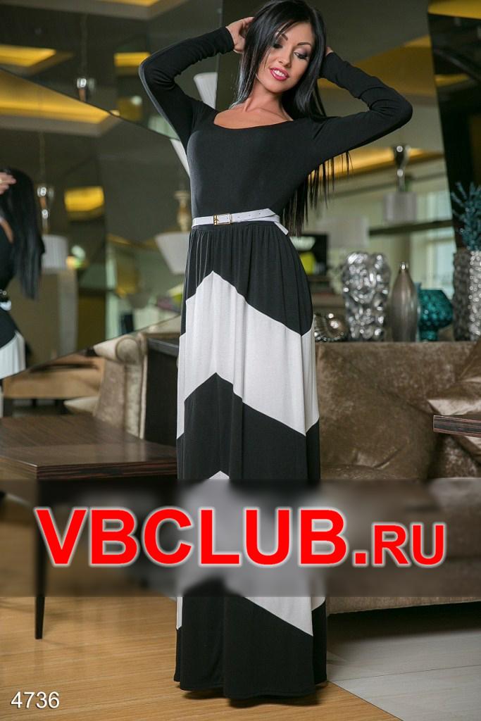 Черное платье в пол с длинными рукавами FN-4736