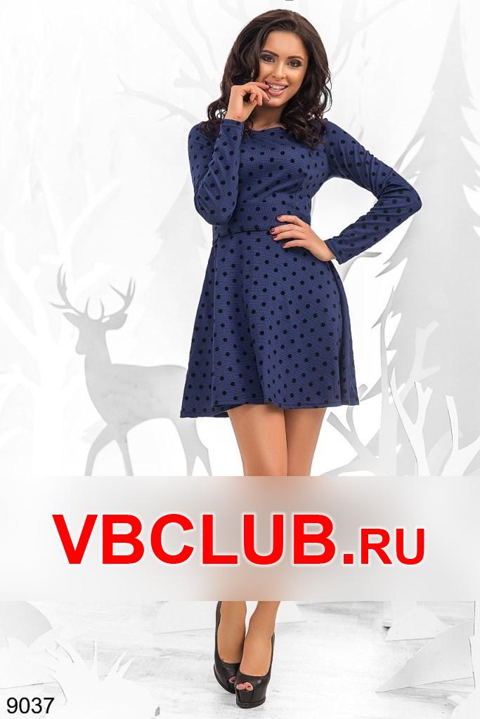 Платье мини в горох FN-9037